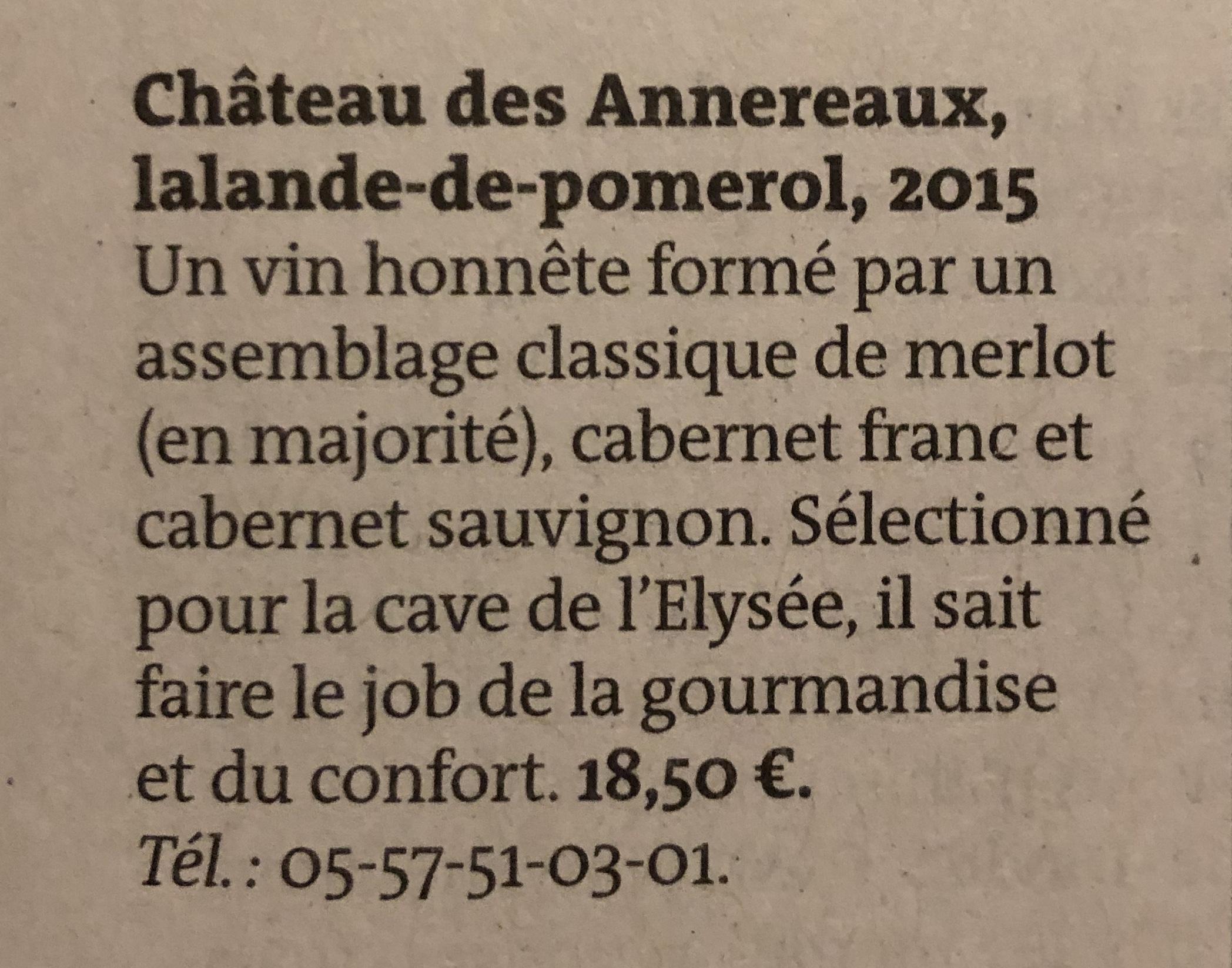 Chateau des Annereaux/ Sélection Le monde